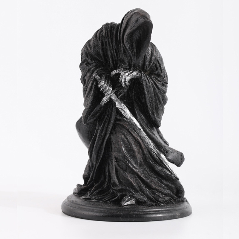 Ringwraith The Lord Of Rings Dark Knight Witch King Black Riders Statue Creative Game Model Decoration Mascot Antique Mascot Kids Gift (5)