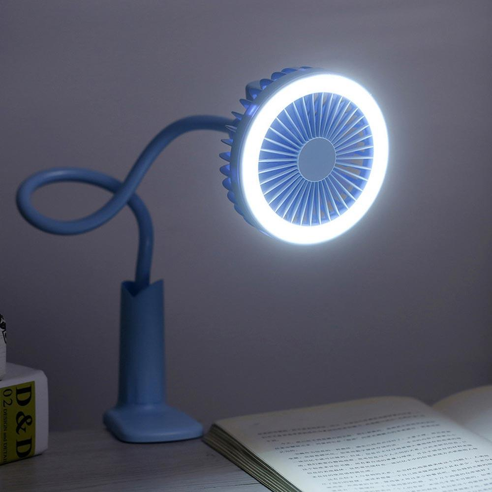 USB Charging Transparent Hand-held Small Fan Girl Student Dormitory led Fan Commuting Portable with Base Fan Portable Fan Hand-held Fan