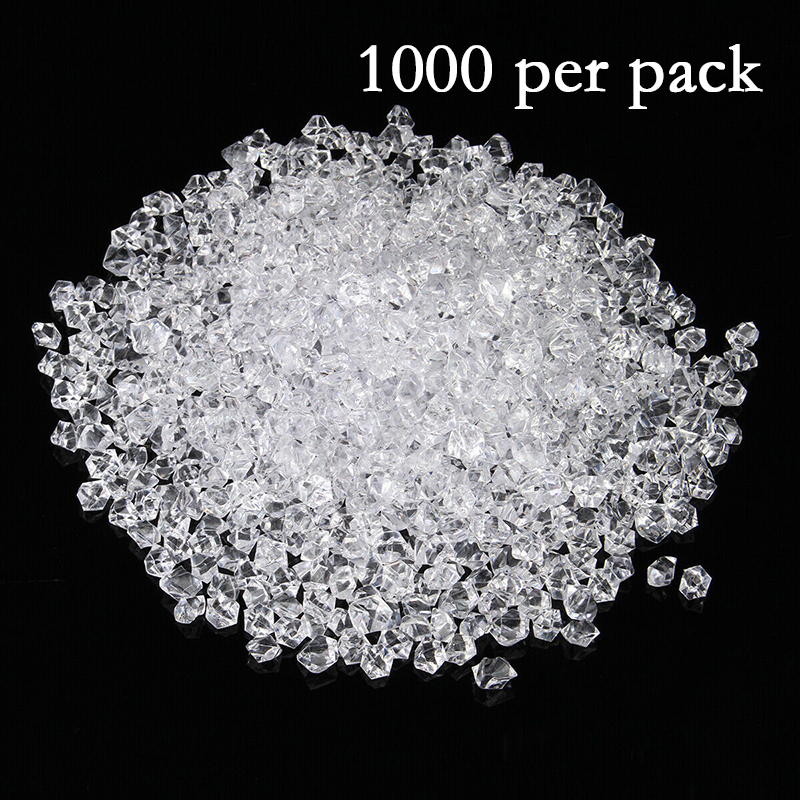 11*14MM Clear Acrylic Diamond Crystal Ice Rock Stones Vase Gems Window Wedding Party Decor Confetti Table Scatter Beads T200117