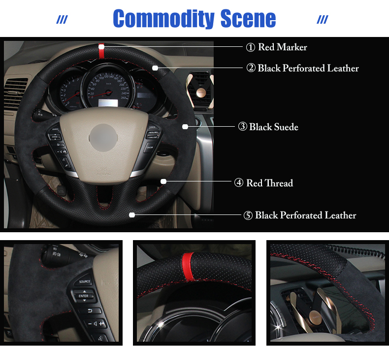 for Nissan Teana steering wheel covers