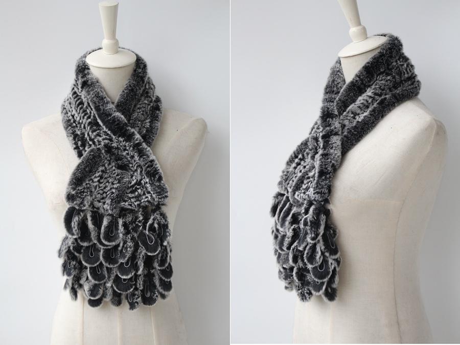 knitted rabbit fur scarf rabbit (10)