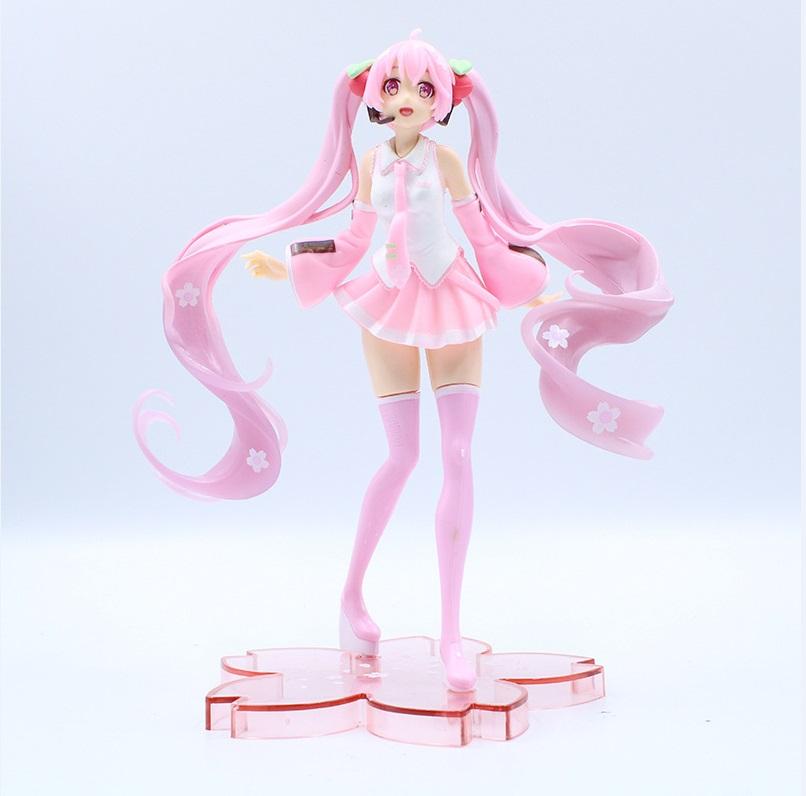 Anime Hatsune Miku Rabbit Ear Spring Dress Ver Figure Bunny Girl Toy No Box 19cm
