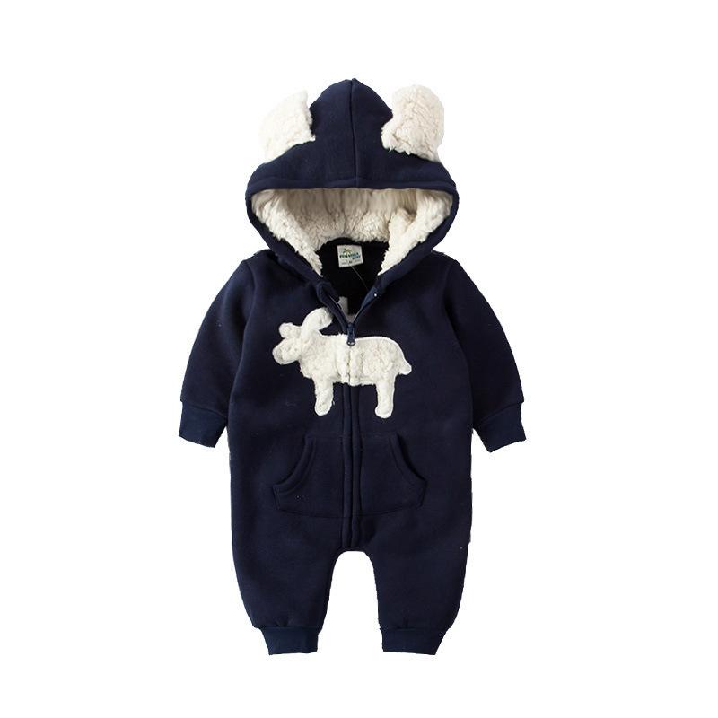 KISBINI Baby Rompers 2018 Ropa de invierno para bebés Niños Niñas Algodón  Mono grueso Mamelucos calientes Bebe One-Pieces 0-2 Kids Pink BlueUSD  22.72 trozo e5e65f21d51