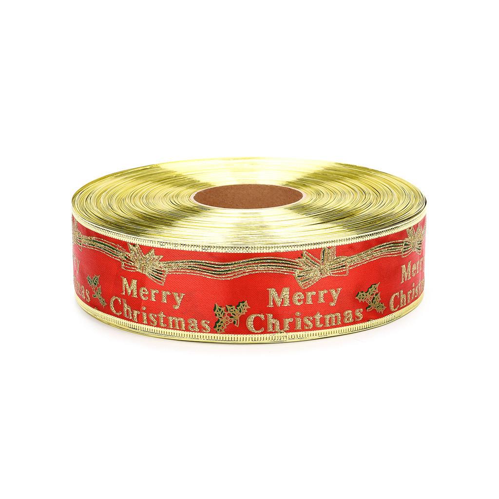 100 jardas de fita de cetim de seda larga Ano Novo partido Home do presente de casamento Decoração de envolvimento do Natal DIY fornece material # 10