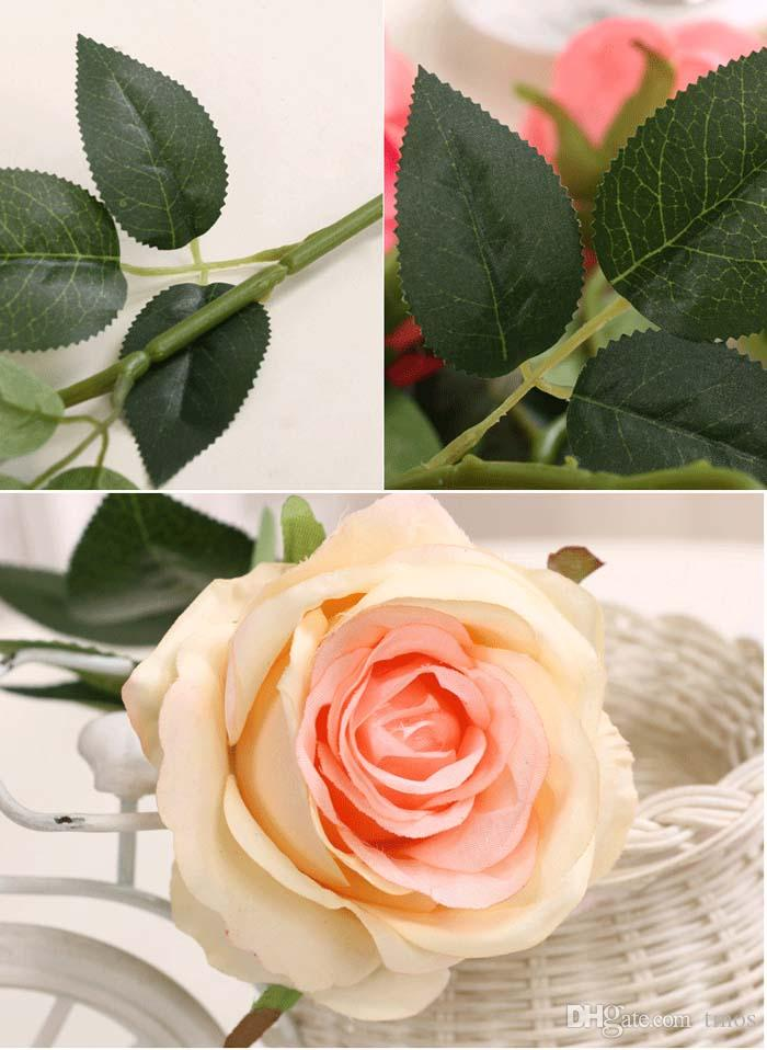 New Charming Beautiful Pretty Artificial Wedding Bouquets Spring Rose Flowers Floral Wedding Home Hotel Desk Decor