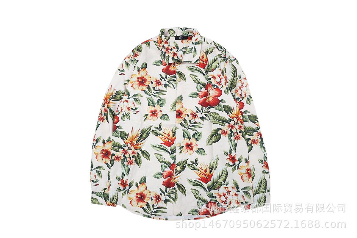 Dear2019 Hombres Otoño Y Mujer Hoja Imprimiendo Color Temblando Grano Manga larga I Camisa fácil Ocio Joker