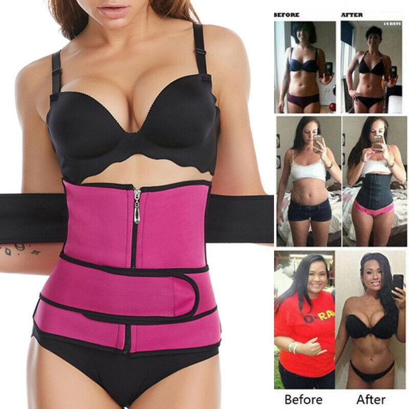 Sport Waist Trainer Weight Loss Women Sweat Thermo Wrap Body Shaper Belt Gym US