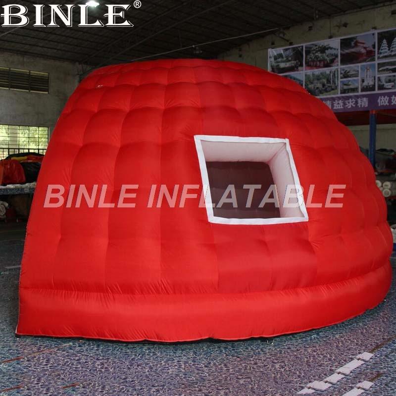 Aufblasbare Kooz-Party-Luftaufblasbares Hauben-Zelt der Werbungs-Messe nach Maß 5m mit Fenstern für Förderung