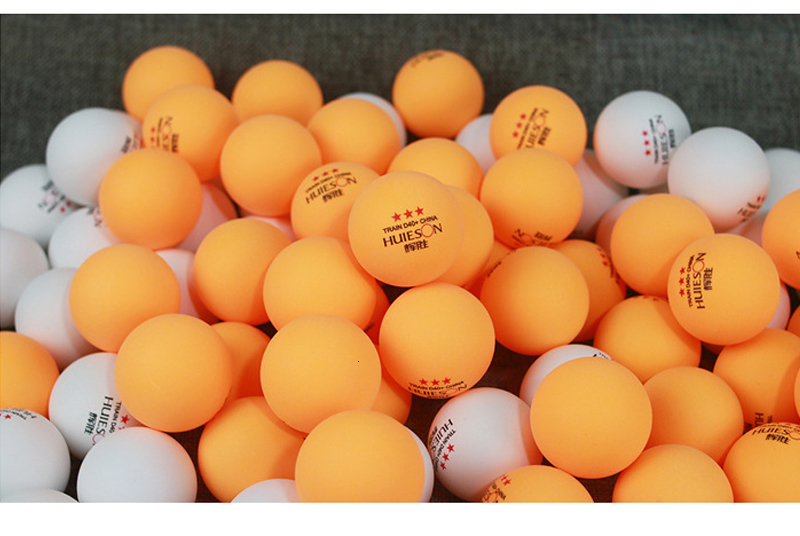 Huieson 100 Pcs 3-Star 40mm 2.8g Table Tennis Balls Ping Pong Balls for Match New Material ABS Plastic Table Training Balls (2)
