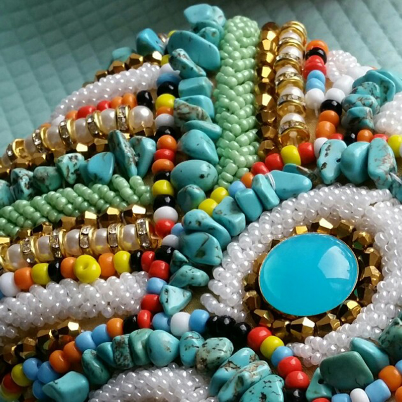 Vintage Colorful Beaded Stones bags (8)