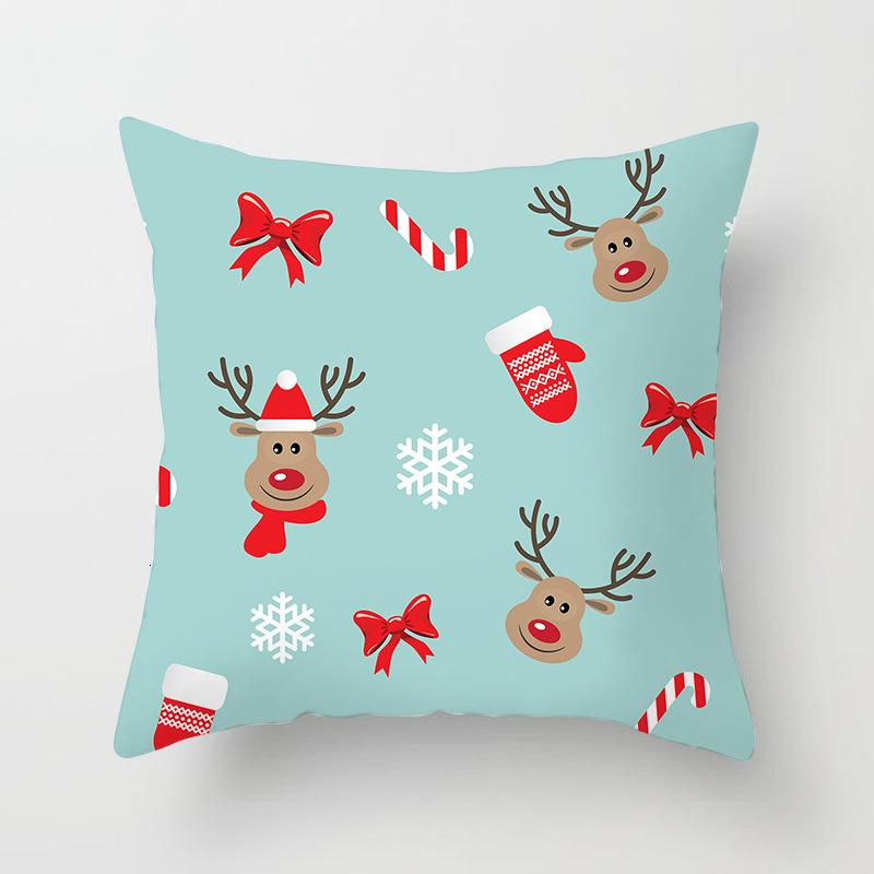 1Pcs 4545 Cm Happy New Year Christmas Decorations for Home Cartoon Santa Claus Xmas Decorative Pillows Cover adornos navidad (14)