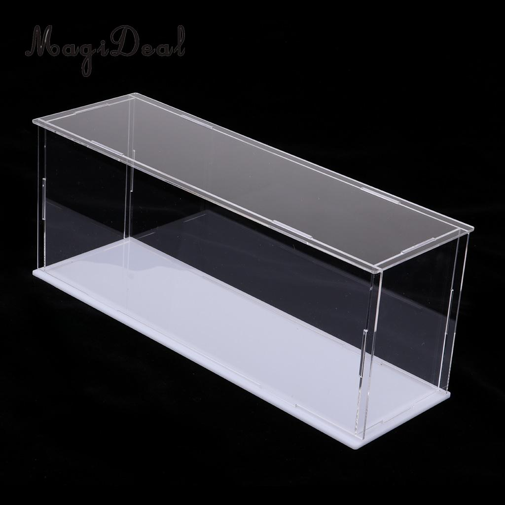 MagiDeal Modern Acrylic Toy Display Show Case Dustproof Box Ornament Protection Tool 28x8x11cm