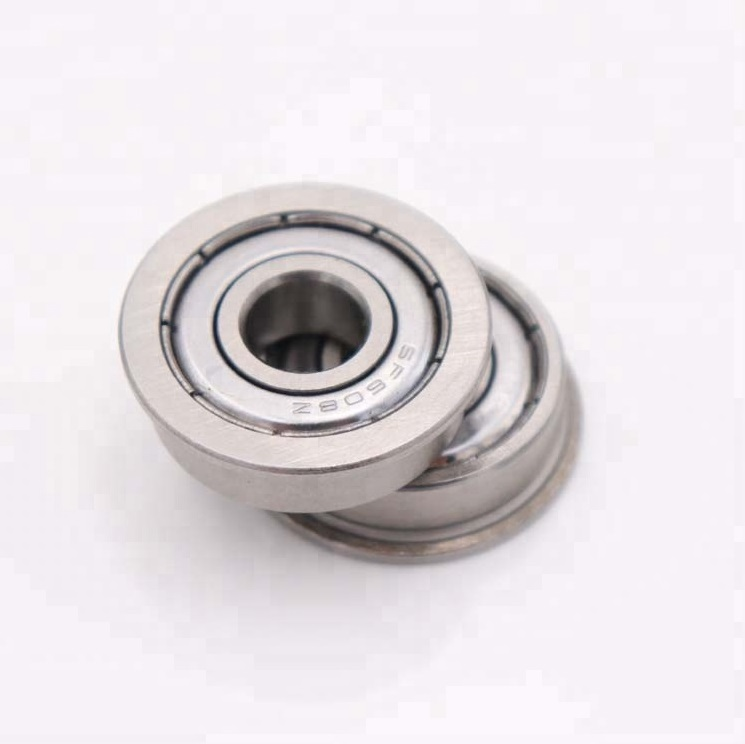 4x9x4 mm 10 PCS Black F684-2RS Metal Flanged Rubber Sealed Ball Bearing