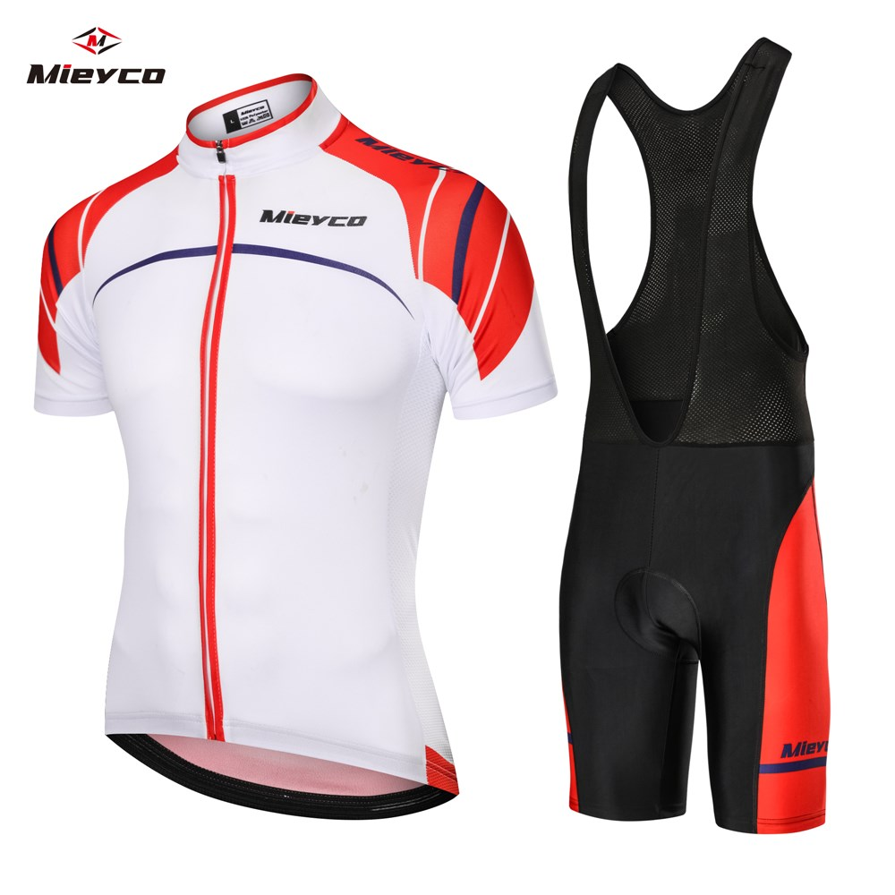 New Mens Cycling Jersey Bib Short Kit Bike Gel Pad Team Shirt Race Ride Road Top