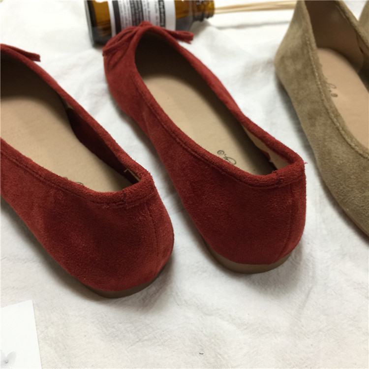Gorgeous2019 Feng Han Chic Booming Real Colour System Sweet Small Red Butterfly Marry Flat Shoes Pregnant Woman Single Shoe
