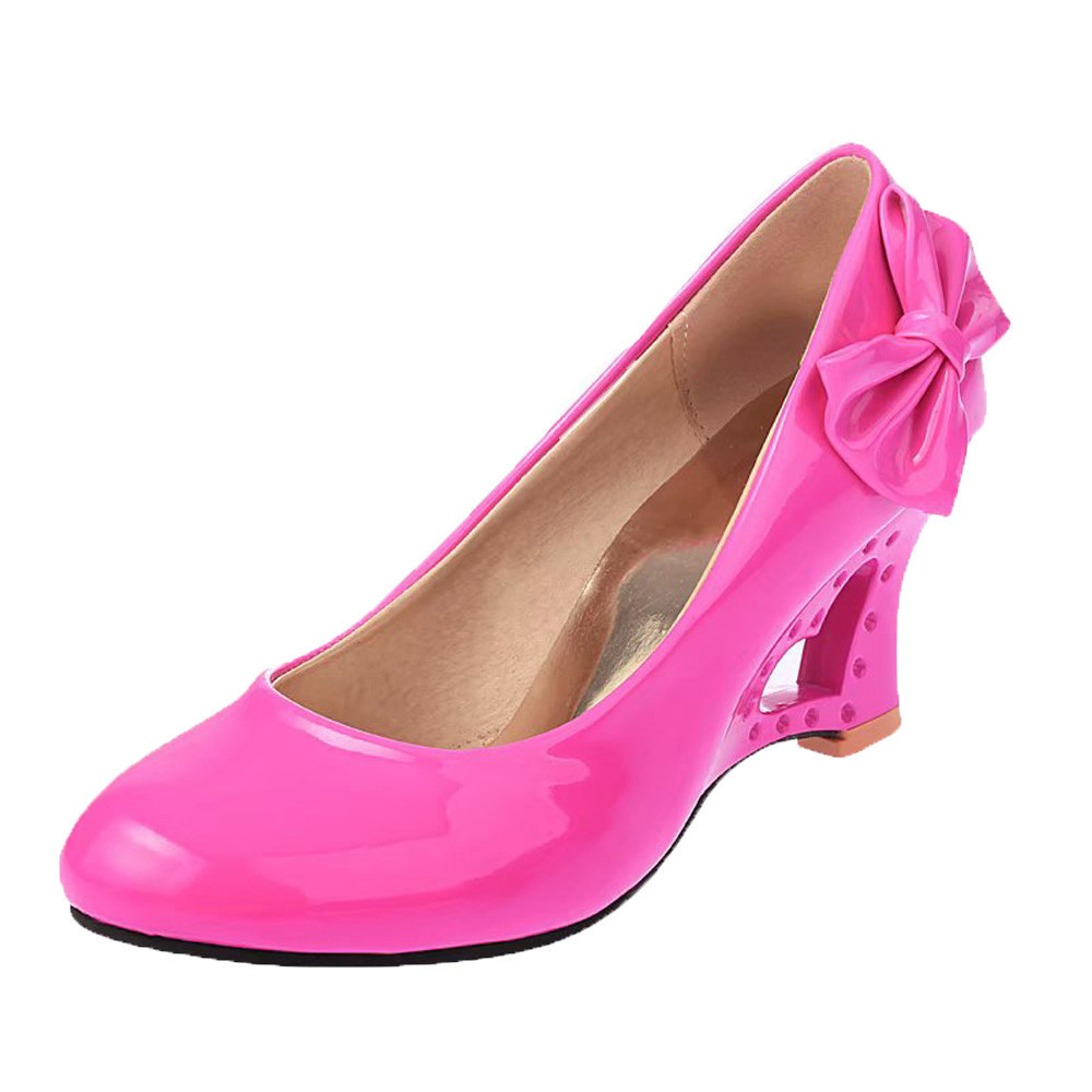 Dress Shoes Hot Sale Women High Heels Butterfly Heart Heels Pumps Bowtie Office Wedding Bridal For Dropshipping