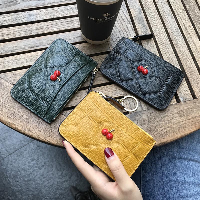 Zipper Small Wallet Poker Peach Womens Purse Porte-monnaie Clutch Cards Holder Wallet Purse Business Card Wallet