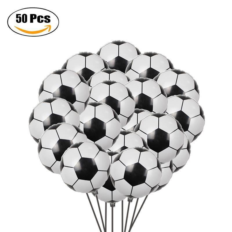 Party Balloons Creative Soccer Shaped Foil Balloons Mylar Balloons For Party Decoration 18'' Q190429