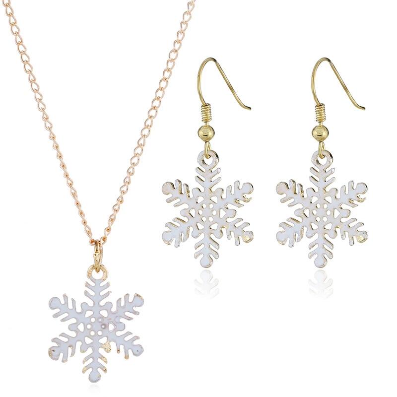 Flocon De Neige Pull Chaîne Pendentif Cadeau de Noël arbre de Noël Collier Lumineux