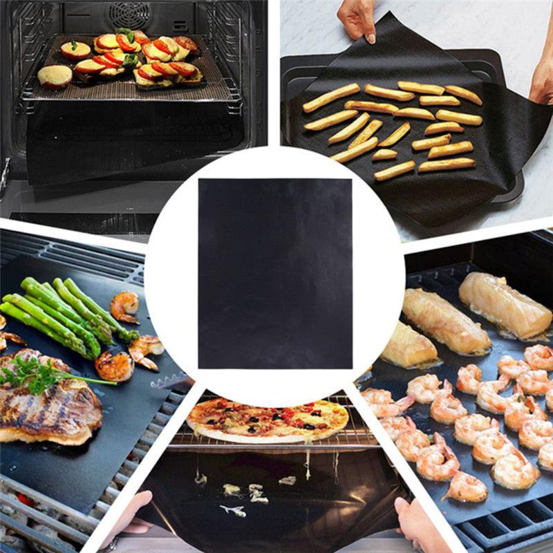 Grills Outdoor Cooking Non Stick Cooking Mat Teflon Reusable Easy To Clean And Carry 16 13 Suitable For Electric Barbecue Gas Charcoal Fiberglass Grill Mat Szdbs Bbq Mat 5pcs High Temperature Resistant