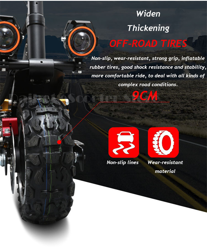 Powerful Off road Electric Skateboard Folding Electric Scooter Adults foldable Electric bike (11)
