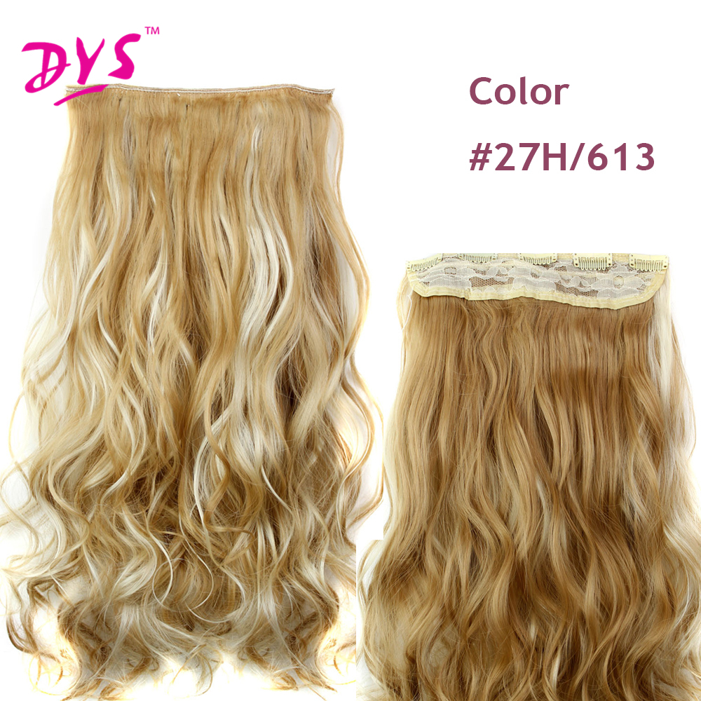 Deyngs 60CM One Piece 5 Clips in Hair Extensions For Women 34 Full Head Long Wavy16 Colors High Temperature Synthetic Fiber (10)