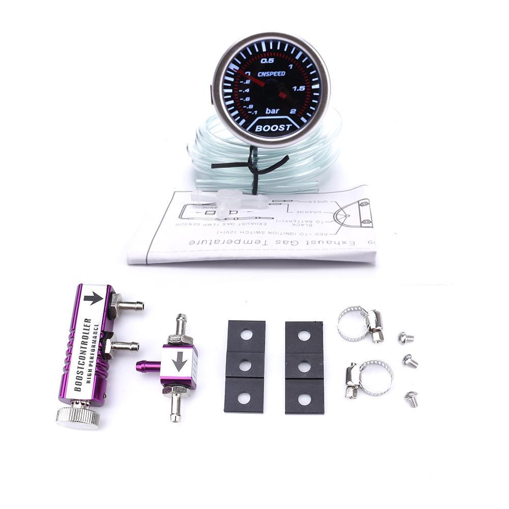 Turbo Boost Gauge 6.5cm//2.6inch Universal Car Turbo Boost Medidor de voltaje y temperatura del medidor de voltaje Medidor Turbo Boost