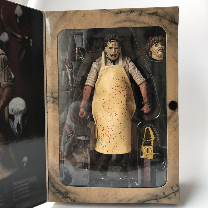 18cm NECA 40th Anniversary Ultimate Leatherface Classic Terror Movie The Texas Chainsaw Massacre Action Figure In 3D Boxed (7)