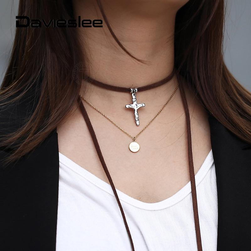 Men Women Cool Gothic Choker Necklace Neck Collar with Metal O-Rings /& Chains
