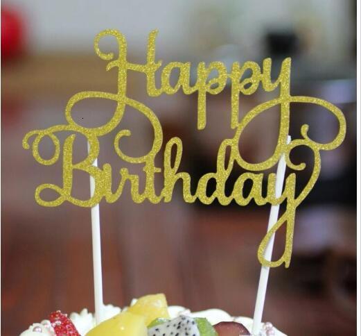 Acrylique Anniversaire Gâteau de Mariage Decor Pick Topper Spark Glitter Party Favor Gift