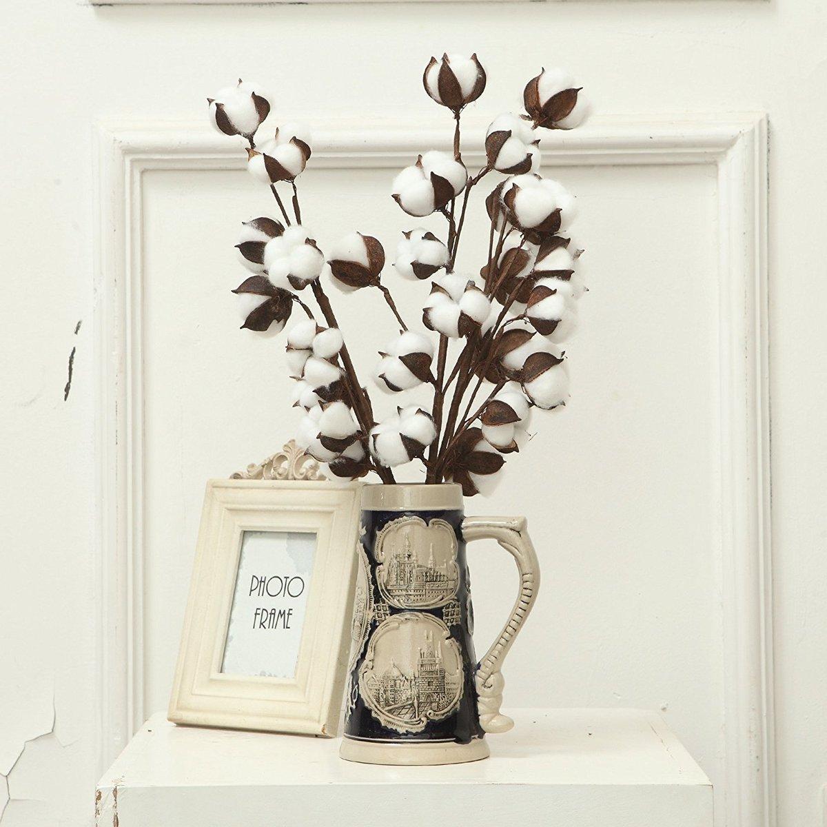 artificial cotton flower single branch 10 petals 52cm simulation flower DIY wedding decoration for home party office C18112601