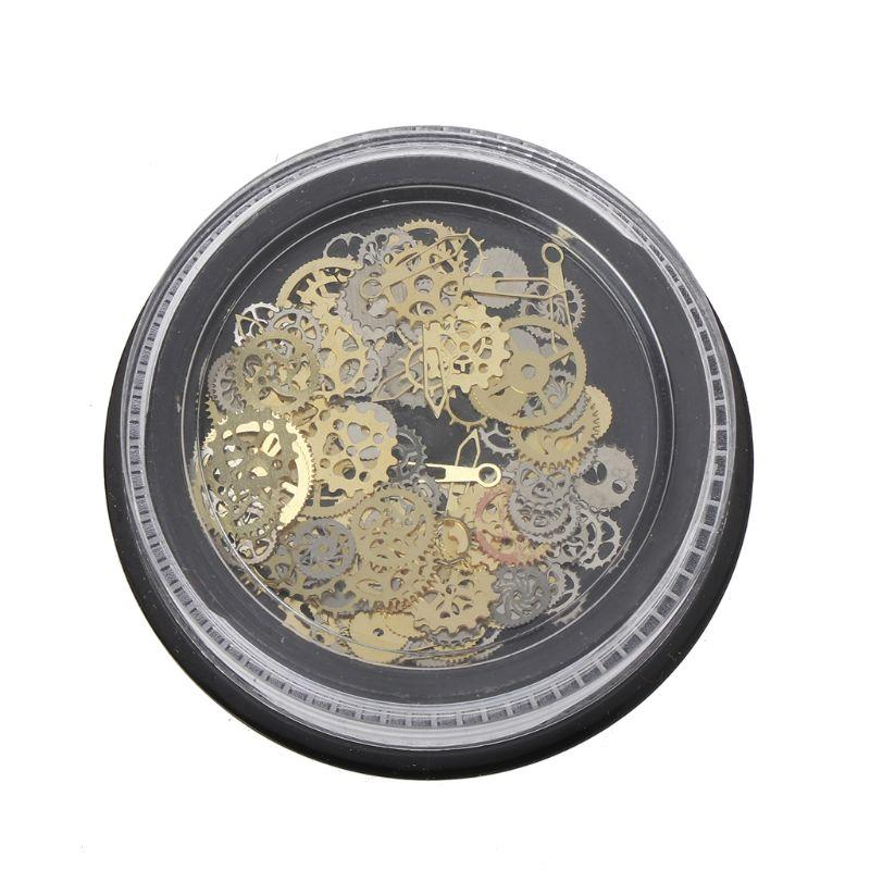 12-120pcs Vintage Alloy Silver Bronze Steampunk Cogs Gears Key Charm Pendants