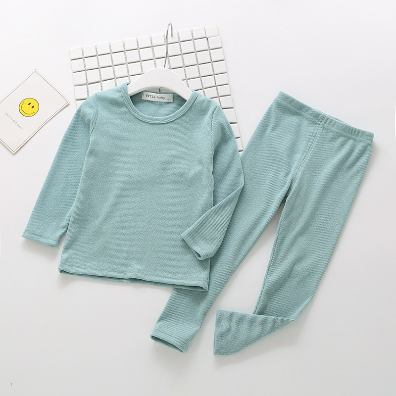 New Ribbed Fitted Pajamas For Baby Girl Pajamas Kids Boy Children Clothes Autumn Winter Toddler Set Soft Comfortable Long Sleeve (3)
