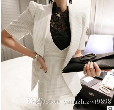 Plus2019 Pop Sale Spring Fall Professional Women's Dress Suit Female Uniform OL Skirt Career Business Suit + Hip Skirt
