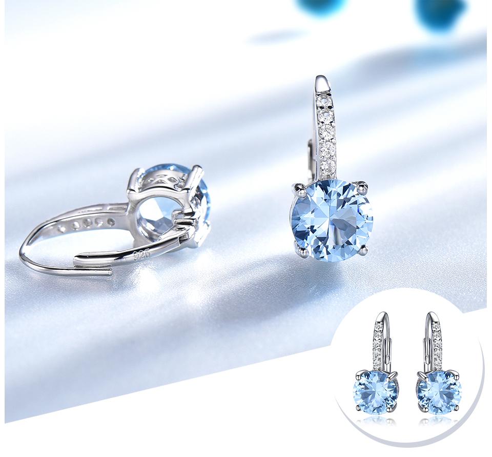 UMCHO Nano Sky Blue Topaz 925 sterling silver clip earrings for women EUJ061B-1-pc (4)
