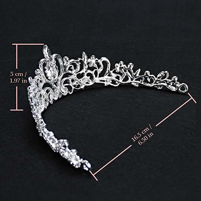 Rhinestone Jewelry Sets Necklace Pendant Tiaras Earrings For Women Pageant Wedding Crowns Bridal Hair Accessories (1)