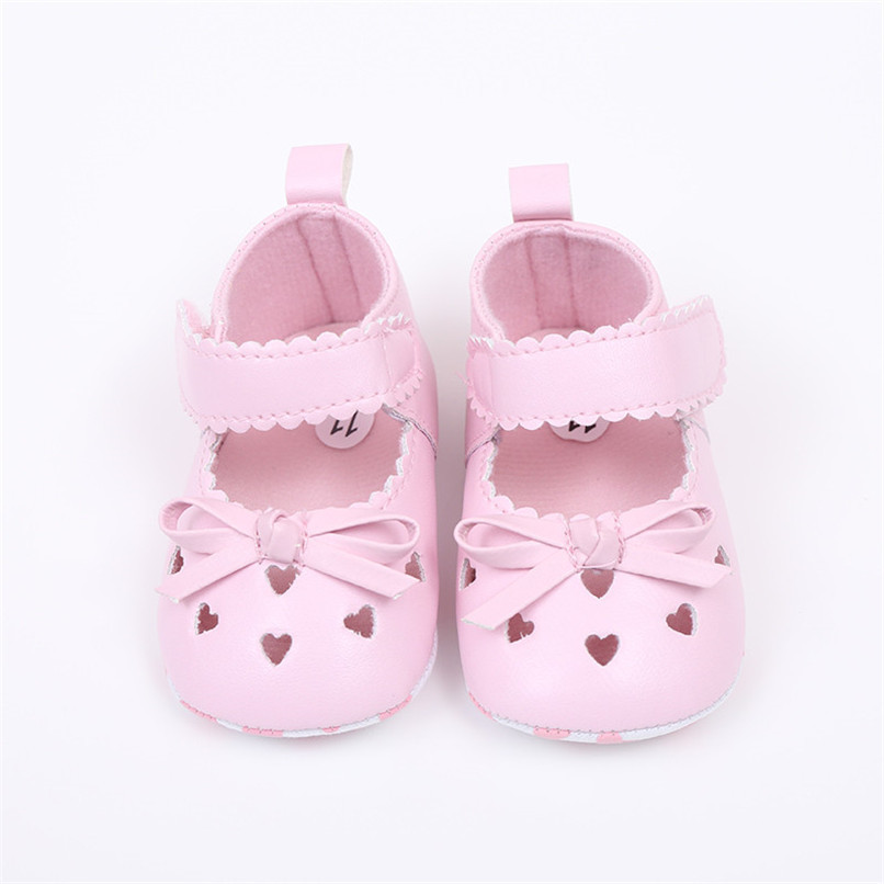 FashionNewborn Infant Baby Girls Crib Shoes Soft Sole Anti-slip Sneakers Bowknot Shoes NDA84L16 (6)