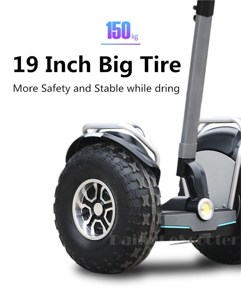 Daibot 2019 New Powerful Electric scooter Two Wheels Double Driver 60V 2400W Off Road Big Tire Adults Hoverboard Scooter (6)