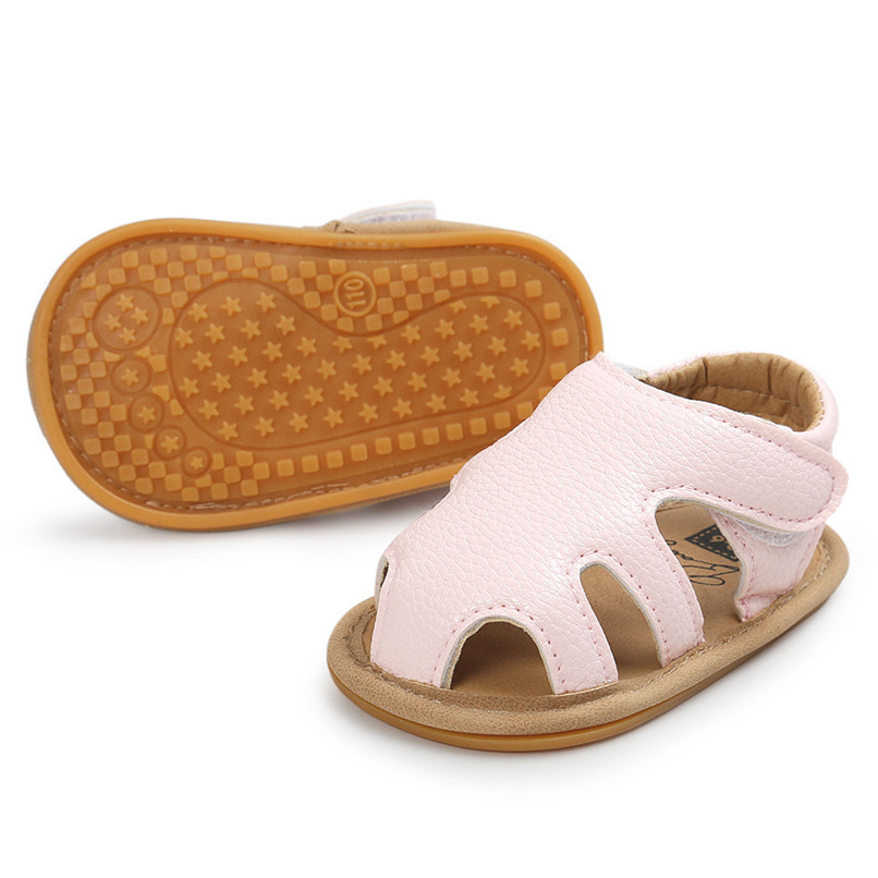 3 Color Summer Fashion Toddler Infant Kids Baby Boys Girls Solid Sandals Casual Anti-slip Soft Sole Shoes Sneaker M8Y02 (17)