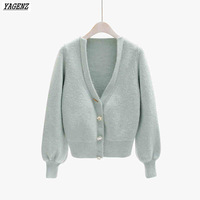 YAGENZ-Spring-Sweater-Cardigan-Coat-Female-College-Winds-Outside-Sweater-V-neck-Lantern-Sleeve-Short-Knitted.jpg_200x200
