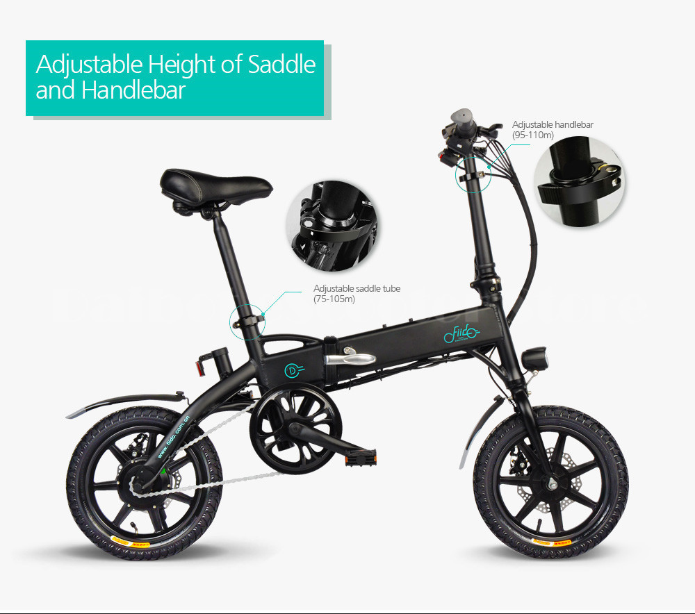 Fiido D1 Foldable Electric Scooter 2 Wheel Electric Bicycle 24V 250W Dual Brake System Portable Mini Folding Electric Bikes (13)