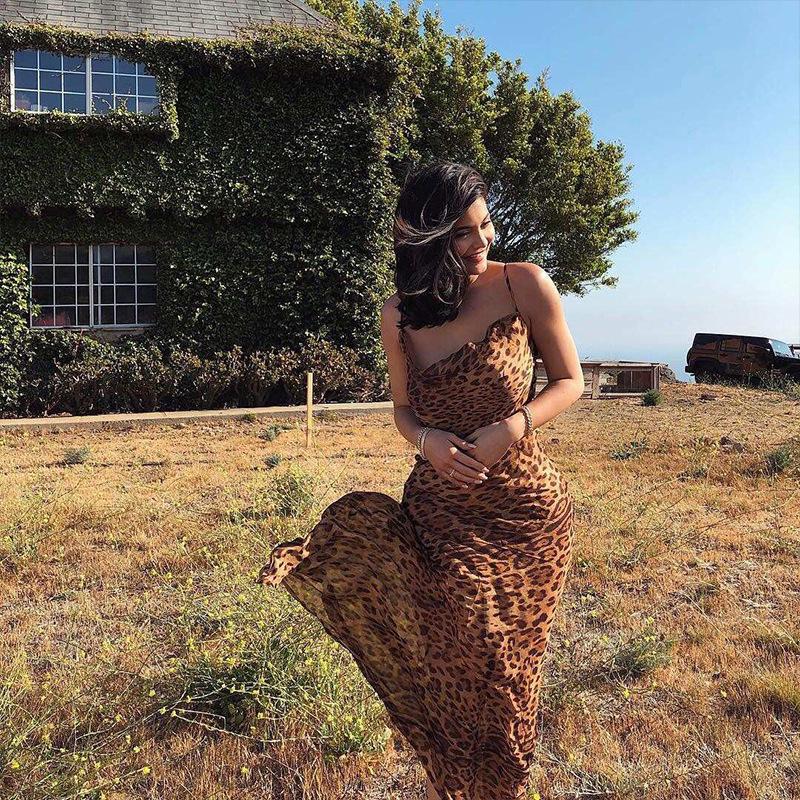 Vêtements pour femmes femmes Designer manches Robes sexy Robe imprimé léopard femmes Robe longue en mousseline de soie d'été Backless Maxi Robe de plage 2019