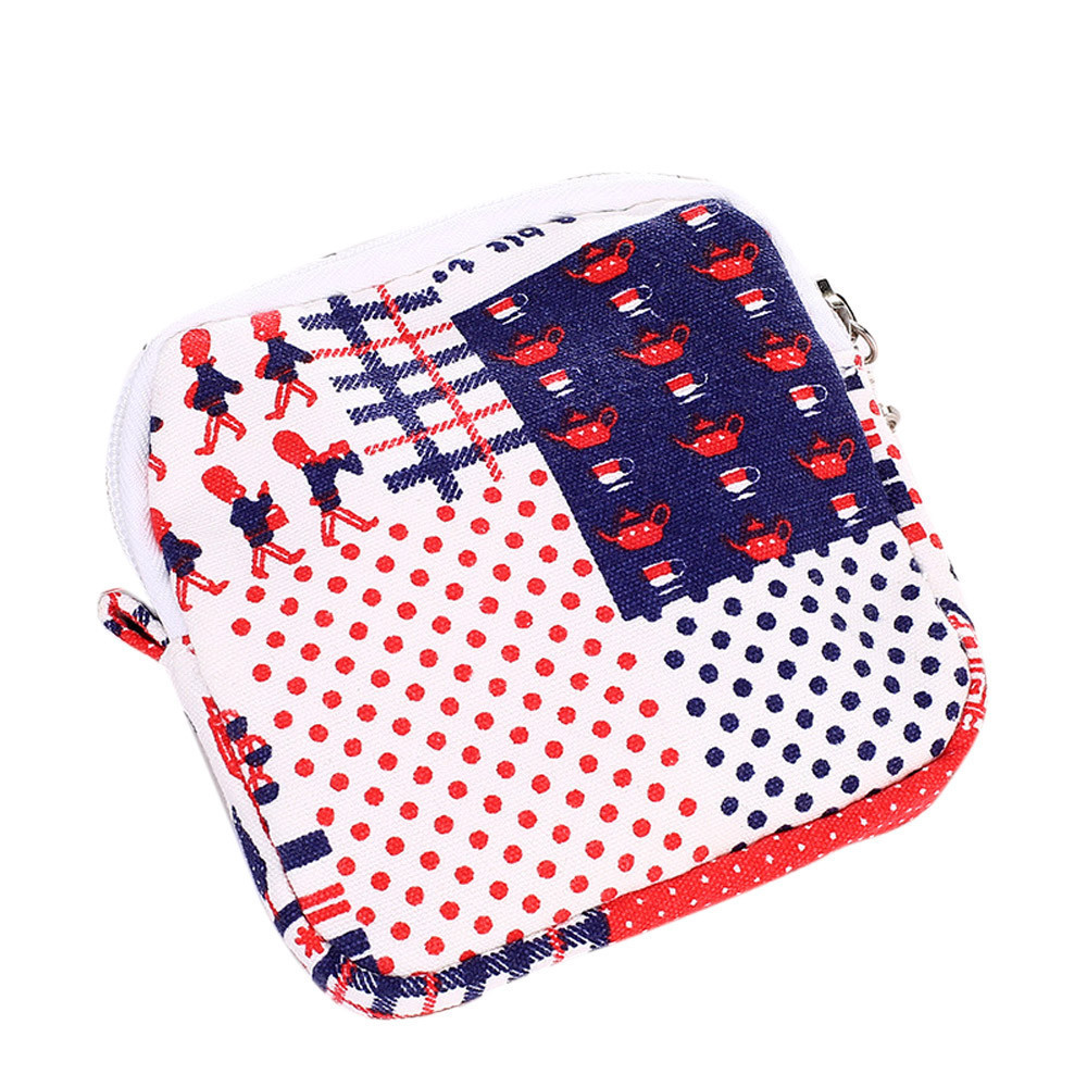Cosmetic Bag Women Girl Cute Sanitary Pad Organizer Holder Napkin Towel Convenience Bags Canvas Lipstick Makeup Bags#h20