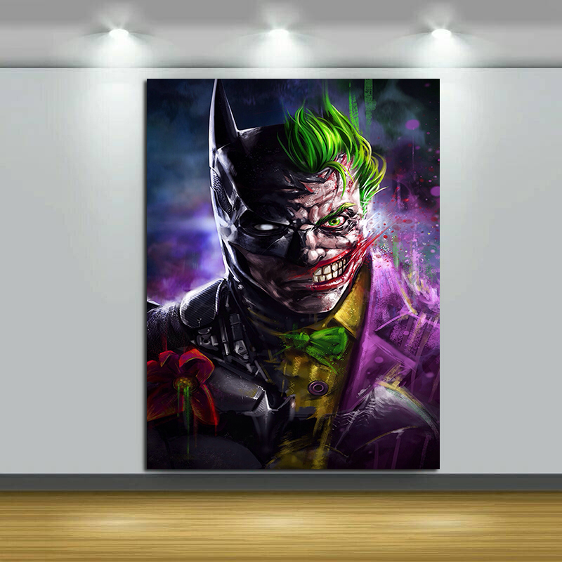 Face Joker Laughing DC Comics Silk Canvas Poster 13x24 24x43 inch