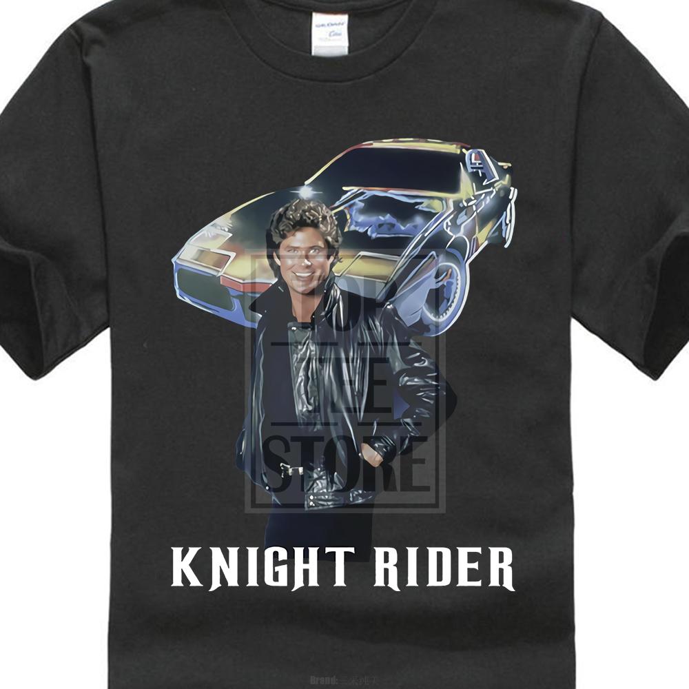 Knight Rider Vintage David Hasselhoff Licensed Adult T-Shirt
