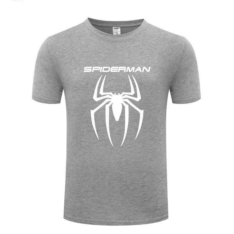 T Shirt Funny Custom Casual T-Shirt Mens Spiderman T Shirt Top Punk Style Rock Man Male Loose Tops Brand