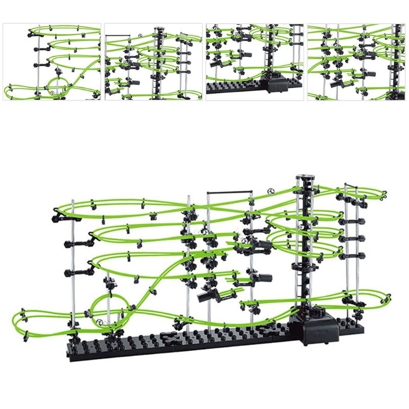Uzay Coaster Spacerails Karanlıkta Glow 13500mm Ray Seviye 3 Oyun 2333g MX190730
