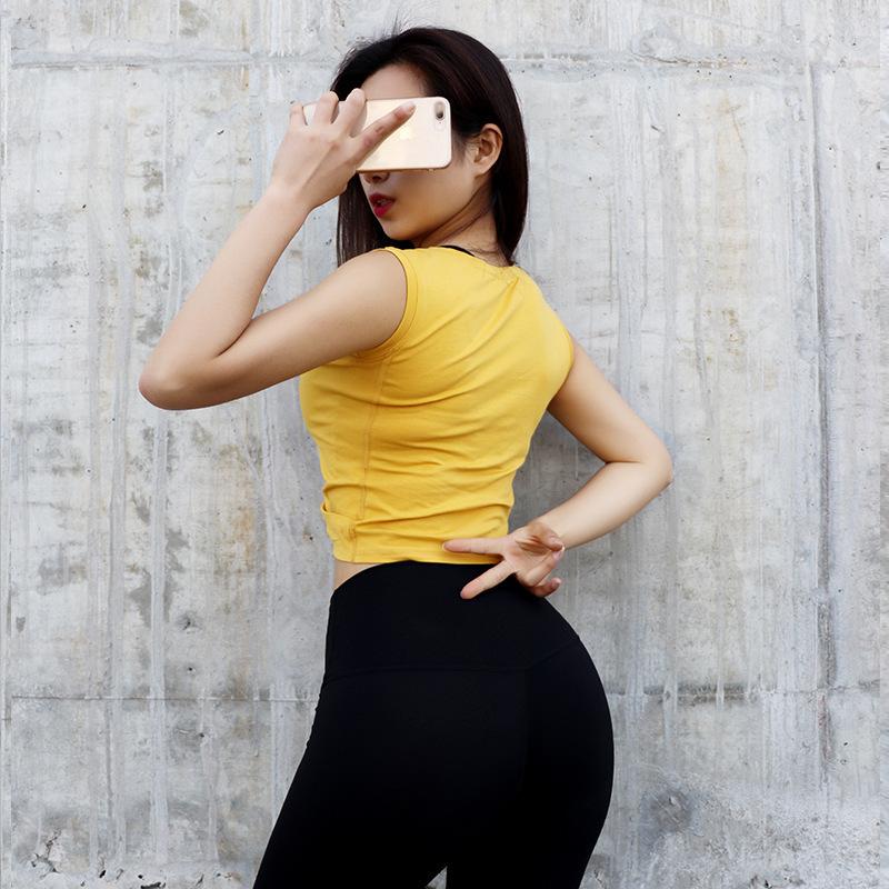 Короткий фонд сексуальный пупок Crossing Motion Jacket Женщина Easy Run Smock Speed Do футболка йога с коротким рукавом бодибилдинг служить