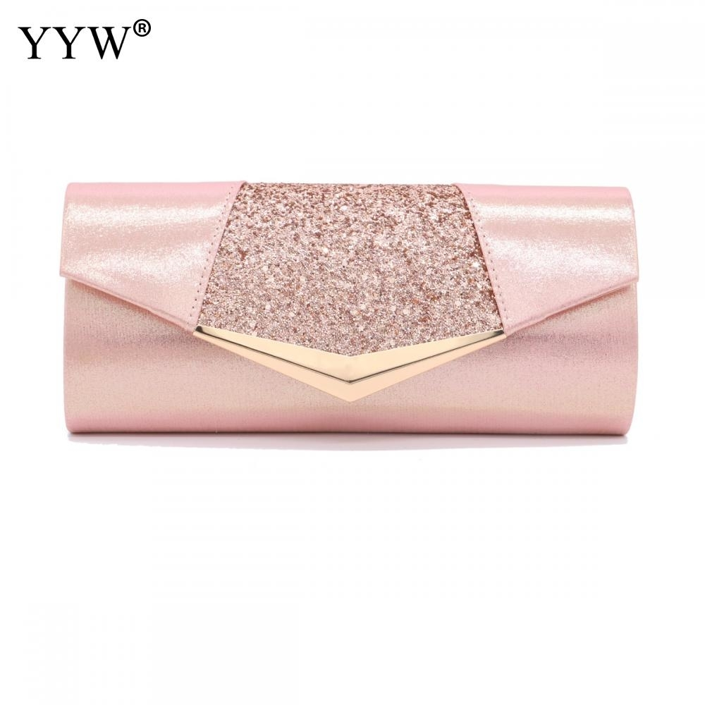 Fashion Crystal Sequin Evening Clutch Bags For Women 2018 Party Wedding Clutches Purse Female Pink Silver Wallets Bag Women Bags MX190819