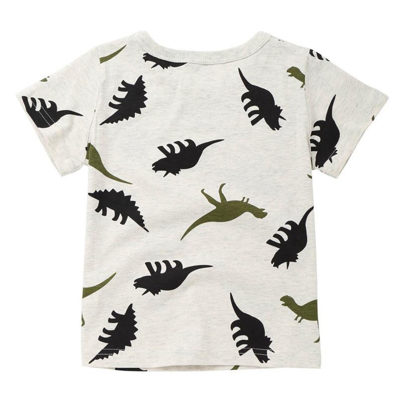 Summer Baby Boy Tops And Tees Children Infant Kid Boys Short Sleeve Cartoon Dinosaur Print T-shirt Tops Baby Boy Clothes M8Y24 (2)